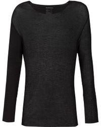Ann Demeulemeester Sheer Long Sleeve T-Shirt black - Lyst