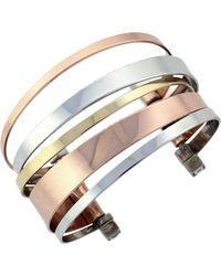 BCBGeneration - Tri-tone Cuff Bracelet - Lyst