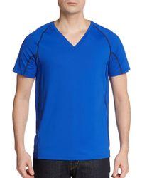 Calvin Klein Mesh-paneled Short-sleeve Shirt - Lyst