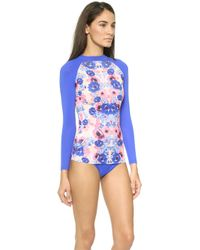 Zinke - Brooks Rash Guard Top - Pop Floral - Lyst
