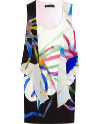 Versace Printed Crepe De Chine Dress - Lyst