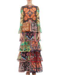 Valentino Printed Cotton Dress - Lyst