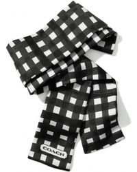 COACH - Gingham Ponytail Scarf - Lyst