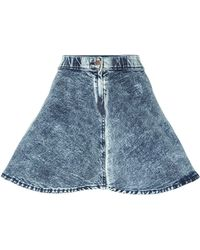Dr. Denim - Alabama Skater Skirt In Blue Acid - Lyst