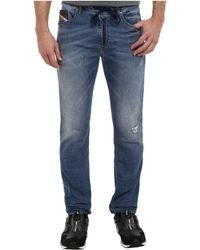 Diesel Waykeene Sweat Jeans in Denim - Lyst
