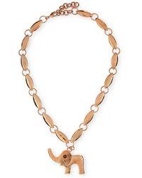 Tuleste - Elephant Pendant Necklace - Lyst