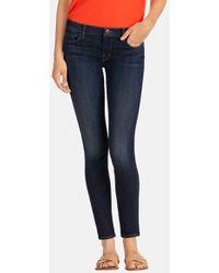 J Brand Mid-Rise Skinny Jeans - Lyst