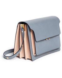Marni 'Trunk' Large Accordion Leather Flap Bag - Lyst