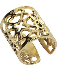 Rita & Zia - Plated Gold Ring - Lyst