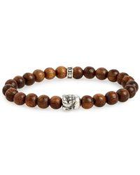 Room 101 - Wood Buddha Bead Bracelet - Lyst
