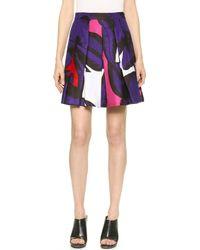 Diane Von Furstenberg Gemma Pleated Skirt - Poppy Leopard Placement Pink - Lyst