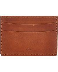 A.P.C. Credit Card Holder - Lyst