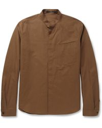 Haider Ackermann Grandadcollar Cotton and Linenblend Shirt - Lyst