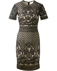 Lover Black Lace Libra Dress - Lyst