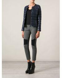 Pinko Blue Padded Jacket - Lyst