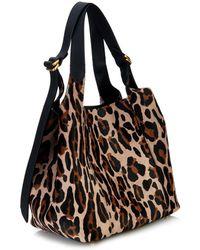 Nina Ricci Faust Leopard-Print Calf-Hair Bucket Bag - Lyst