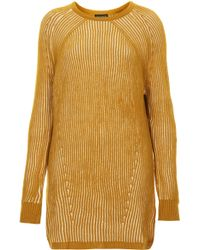 Topshop Chunky Ribbed Jumper Dress - Lyst