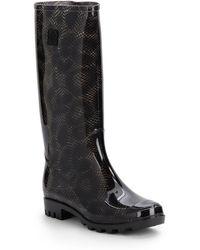 Dav Animal-Print Jelly Rain Boots - Lyst