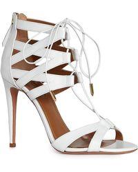 Aquazzura White Beverly Hills Sandal White Beverly Hills Sandal - Lyst