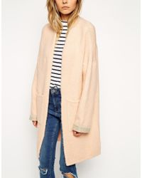 Asos Longline Cardigan With Patch Pockets - Lyst