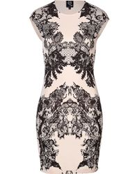 McQ by Alexander McQueen Lace Print Bodycon Dress - Lyst