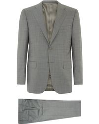 Canali Classic Sharkskin Suit - Lyst