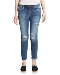 Joe's Jeans Distressed Cropped Jeans - Lyst