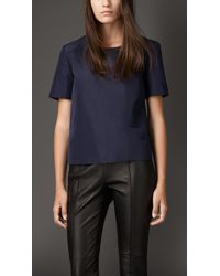 Burberry Boxy Fit Technical Cotton Top - Lyst