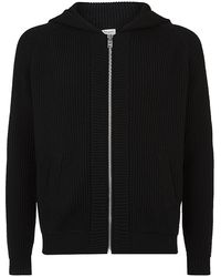 Saint Laurent Chunky Knit Zip Cardigan - Lyst