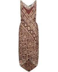 Ralph Lauren Blue Label - Nyla Diaz Silk Wrap Dress - Lyst