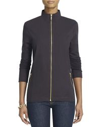 Jones New York Fullzip Longsleeved Mockturtleneck - Lyst
