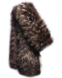 Michael Kors Tweed Fox Fur Scarf - Lyst