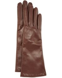 Portolano Cashmere Lined Leather Gloves - Lyst
