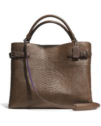 Coach The Box Town Tote in Croc Embossed Leather - Lyst