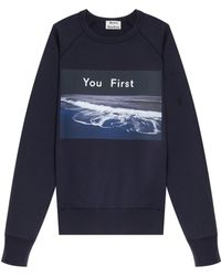 Acne Studios College Photo Print Sweater - Lyst