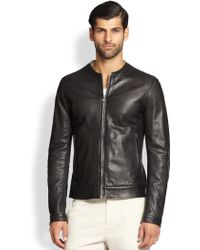 Dolce & Gabbana Perforated Nappa Leather Jacket - Lyst