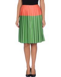 Cedric Charlier Knee Length Skirt - Lyst