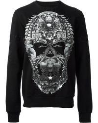 Philipp Plein Black Skull Sweatshirt - Lyst