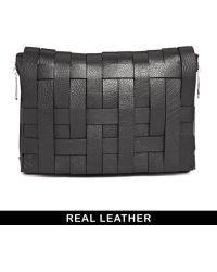 Asos Leather Bondage Weave Chunky Clutch Bag - Lyst