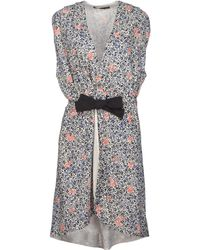 Balenciaga Multicolor Short Dress - Lyst