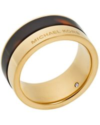 Michael Kors Tortoise And Goldtone Ring gold - Lyst