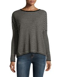 Philosophy Cashmere - Cashmere Striped Sweater - Lyst