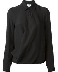 Kenzo Draped Shirt - Lyst