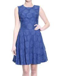 Ermanno Scervino Dress Pencil Or Sheath Dress Without Maniche Floral Su Voille - Lyst
