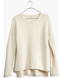 Madewell Easy Cable Pullover Sweater - Lyst