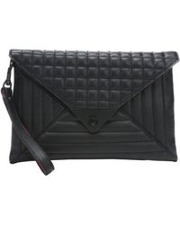 L.a.m.b. Black Quilted Leather 'Ebba' Clutch Bag - Lyst