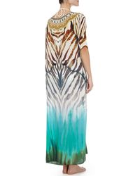 Camilla Scoopneck Caftan Coverup Dress Animalia - Lyst