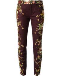 Dolce & Gabbana Floral Keys Print Jeans - Lyst