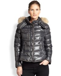 Moncler Fur-Trim Armco Jacket - Lyst