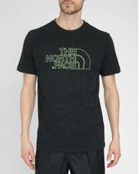 The North Face Grey Tnf Novel Logo Printed T-Shirt gray - Lyst